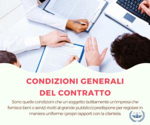 Condizioni Generali di Contratto